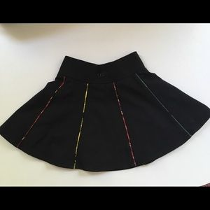 Junior Gaultier Girls Black & Tartan flare skirt